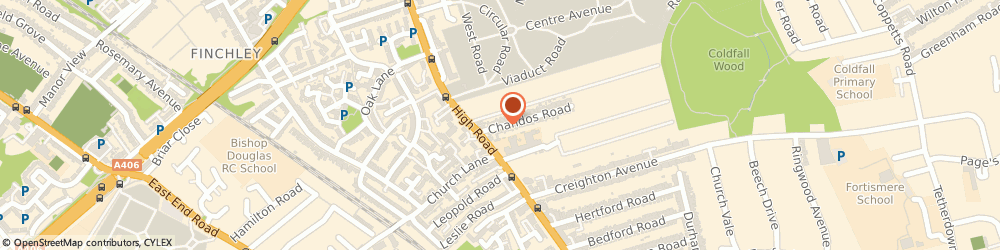 Route/map/directions to Topcoats Mobile, N2 9AP London, 20 CHANDOS ROAD