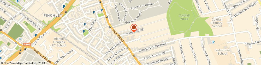 Route/map/directions to Maritime Engineering Ltd, N2 9AR London, 25 CHANDOS ROAD