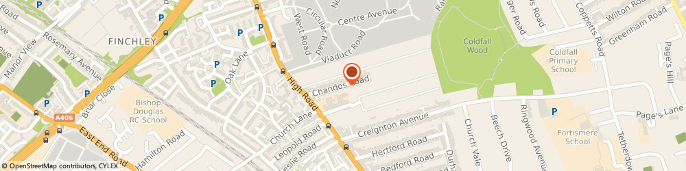 Route/map/directions to Mr Adam Schamroth Practice, N2 9AR London, 35 Chandos Road
