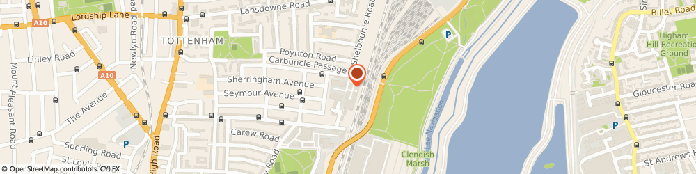 Route/map/directions to A Top Bounce, N17 9SR London, UNIT 2A, ROSEBERY INDUSTRIAL PARK, ROSEBERY AVENUE