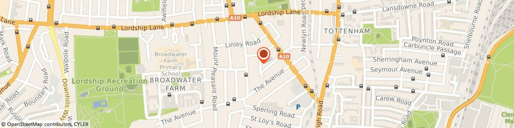 Route/map/directions to Giant Removals, N17 6RJ London, 25 Whitley Road