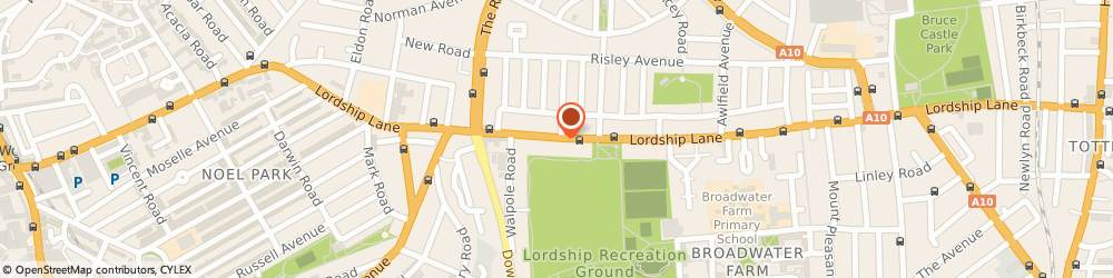 Route/map/directions to Vanvastan Lodge Ltd, N17 6AE London, 393 LORDSHIP LANE