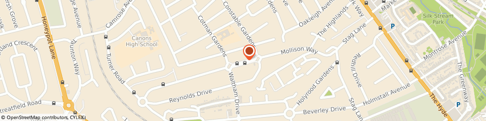Route/map/directions to Gillespie Inverarity & Co, HA8 5QH Edgware, 9 North Parade, Mollison Way