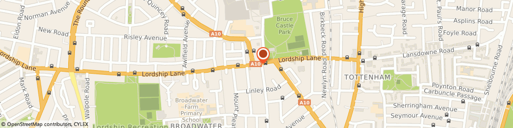 Route/map/directions to The Elmhurst, N17 6XE London, 131 Lordship Lane
