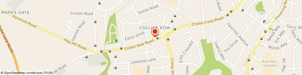 Route/map/directions to Post Office Limited, RM5 3PB Romford, 46-48 Collier Row Road