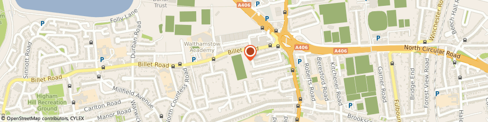 Route/map/directions to Benchmarx - WALTHAMSTOW, E17 5DU London, Waltham Park Way, Billet Road