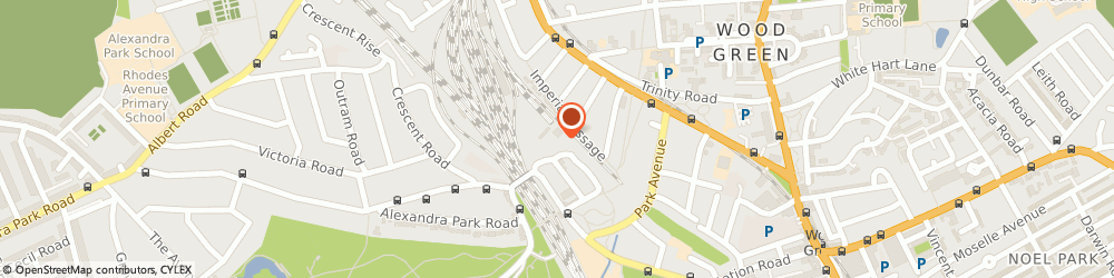 Route/map/directions to Travis Perkins, N22 7SN London, 31 Bridge Rd, Alexandra Palace