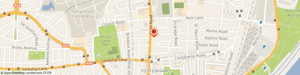 Route/map/directions to Access, N17 8AD London, 685 HIGH ROAD