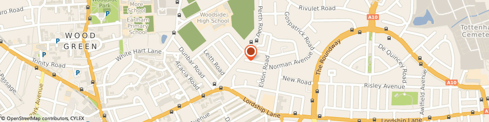 Route/map/directions to MANKTELOW LIMITED, N22 5EB London, 1A Saxon Road