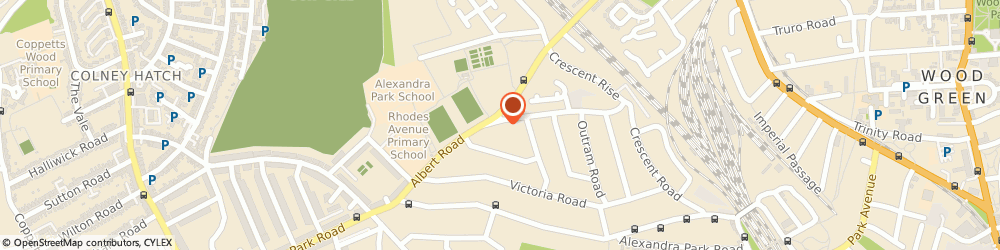 Route/map/directions to Locksmith Muswell Hill, N22 7AQ London, Albert Rd