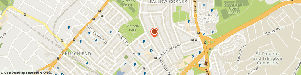Route/map/directions to Parkside Court Residents Co. (Finchley) Limited, N3 2EG London, 2 PARKSIDE COURT, 115 ETCHINGHAM PARK ROAD