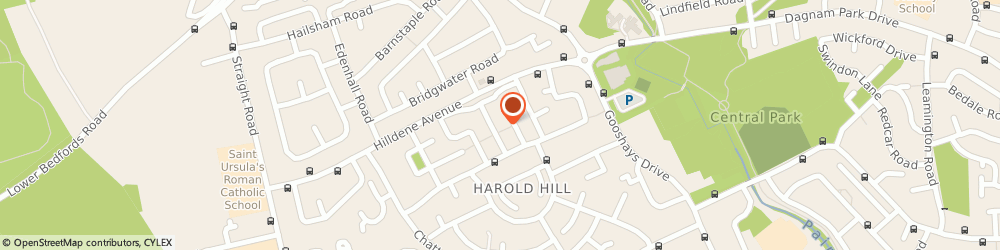 Route/map/directions to Post Office Limited, RM3 8EJ Romford, Harold Hill Bo
