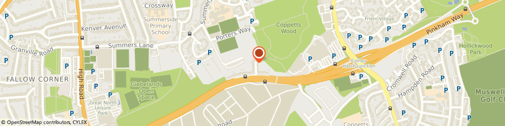 Route/map/directions to Forget-Me-Not Gardens, N12 0AG London, 26 Coppetts Close