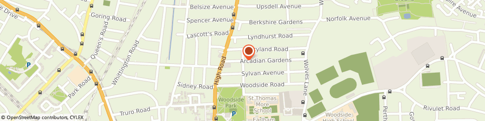 Route/map/directions to DG ESTATES LIMITED, N22 5AA London, 5 Arcadian Gardens