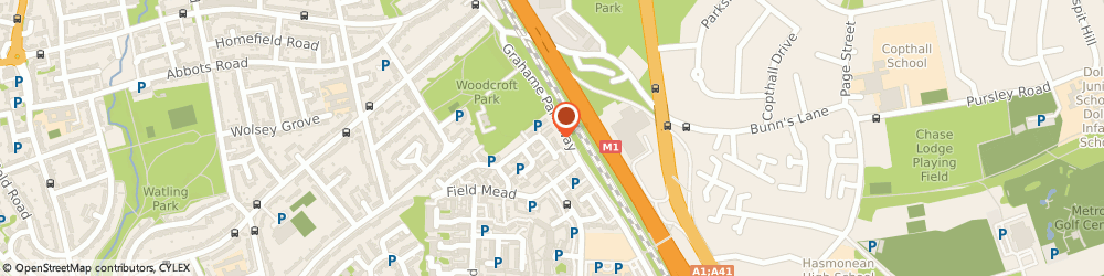 Route/map/directions to Av Transfer, NW7 2LA London, 31 Grahame Park Way, Edgware, Mill Hill