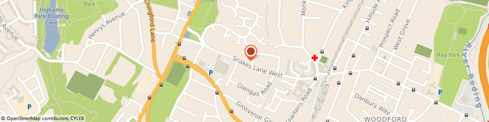 Route/map/directions to Locksmith Woodford Green, IG8 0BS Woodford Green, 26 Snakes Lane West