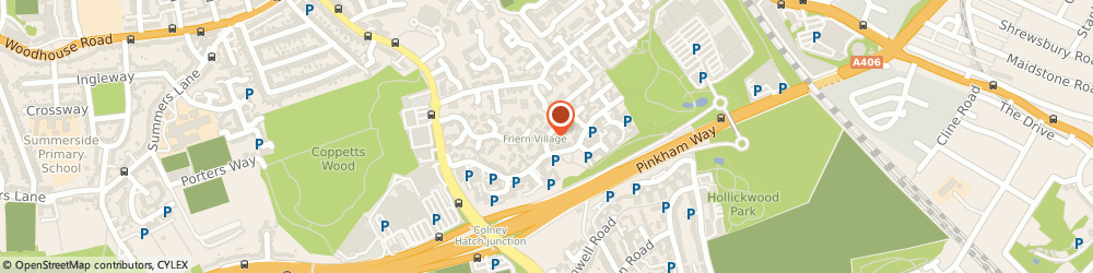 Route/map/directions to Lara Wellness, N11 3NP London, 8 Elm Way