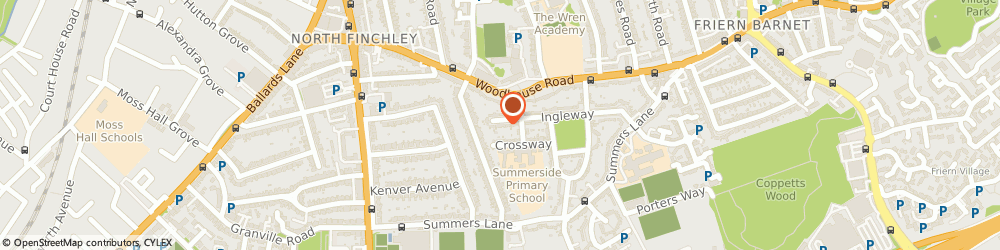 Route/map/directions to White Cadillac Wedding Car, N12 0QR London, 98 INGLEWAY