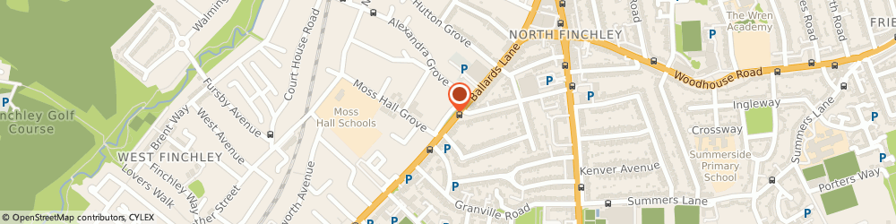 Route/map/directions to Moss Hall, N12 8NY London, 10, MOSS HALL CRESENT