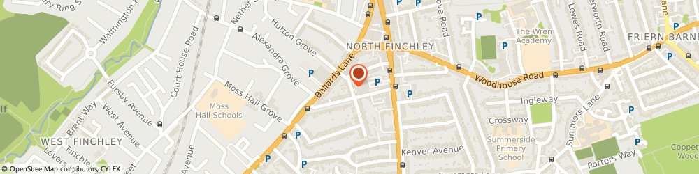 Route/map/directions to Sydney Rose Limited, N12 0DR London, 1ST FLOOR, 2 WOODBERRY GROVE
