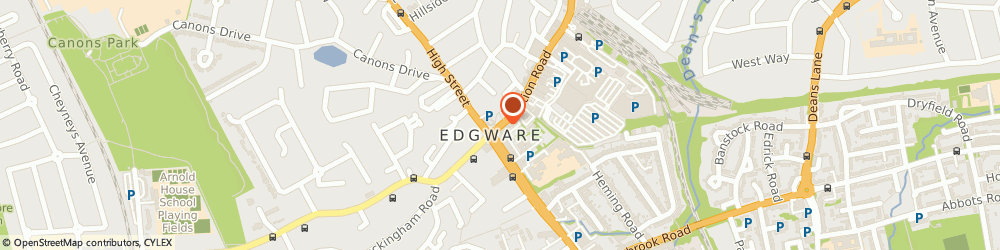 Route/map/directions to D-Vine Events, HA8 7AB Edgware, 10 STATION ROAD