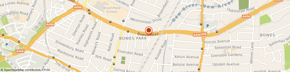 Route/map/directions to Luxury & Prestige Car Hire, N13 4RU London, 93 Bowes Rd