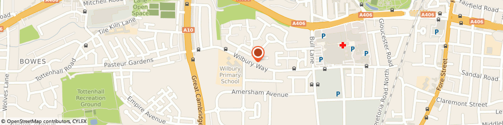 Route/map/directions to Community facilities for hire, N18 1DE London, Wilbury Way