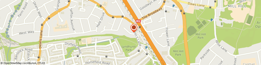 Route/map/directions to Profile Insurance Services Ltd, NW7 2AA London, 8 Langley Park