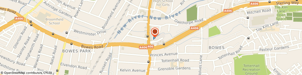 Route/map/directions to Schmidt Kitchens Palmers Green, N13 5UP London, 94 Green Lanes