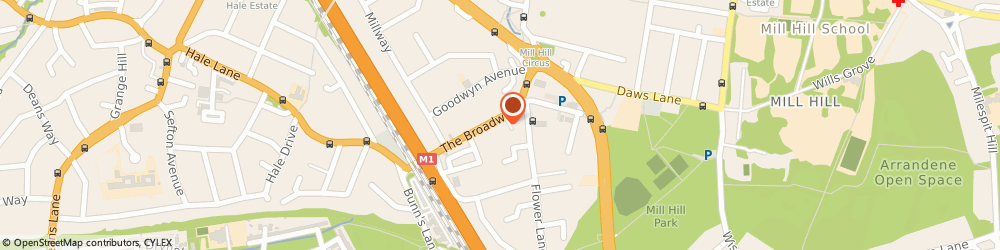 Route/map/directions to Millet Sports, NW7 3TE London, 60 The Broadway