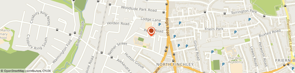 Route/map/directions to North Finchley Tutors, N12 8DJ London, 98 Grange Avenue