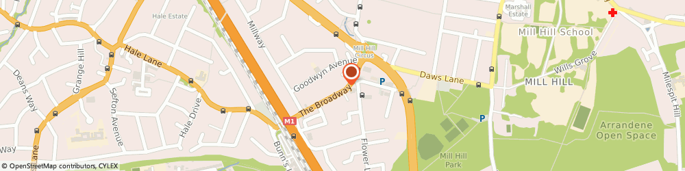 Route/map/directions to Mill Hill Wines, NW7 3TG London, 85 The Broadway, Mill Hill
