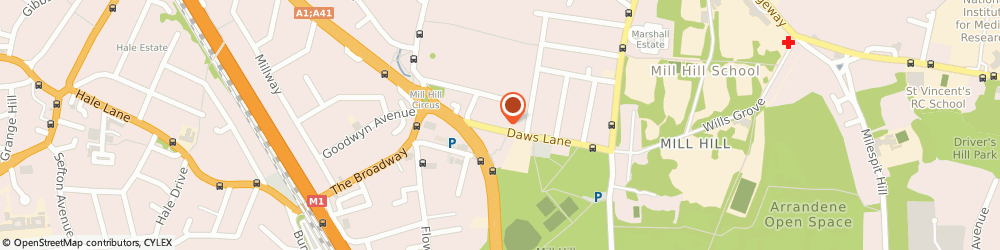 Route/map/directions to Sandras Soft Furnishings, NW7 4SD London, 33-35 Daws Ln
