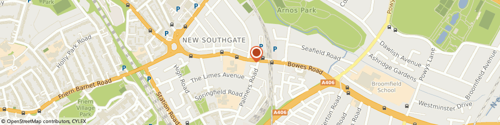 Route/map/directions to Olivier, N11 1AA London, 355, BOWES ROAD