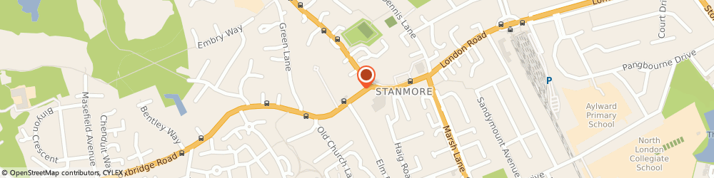 Route/map/directions to Mediphase Ltd, HA7 4AR Stanmore, REGENT HOUSE 21 CHURCH ROAD