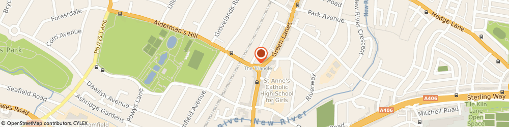 Route/map/directions to Gas Clothing U.K. Limited, N13 4PJ London, 10B ALDERMANS HILL