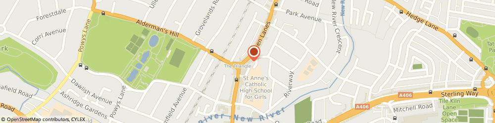Route/map/directions to PARK VIEW HEALTH CLUBS, N13 5TU London, 262 green lanes