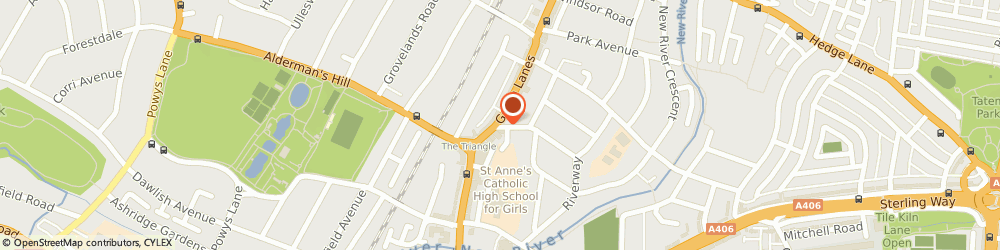 Route/map/directions to NatWest - London ATM, N13 5GA London, 288 Green Lanes