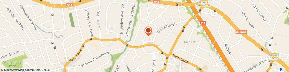 Route/map/directions to Apex School Of Motoring, HA8 9SH Edgware, 13 Stonyfields Lane