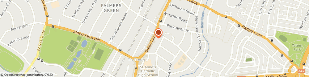Route/map/directions to Scrivens Opticians & Hearing Care, N13 5TW London, 328-330 Green Lanes, Palmers Green