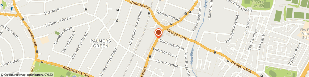 Route/map/directions to graphace, N13 4BS London, 483 Green Lanes