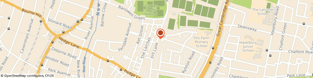Route/map/directions to Van Squad, N13 5QH London, 299 Firs Ln, Palmers Green