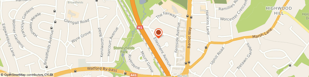Route/map/directions to J Fennessy, NW7 3HB London, 99 Ellesmere Avenue