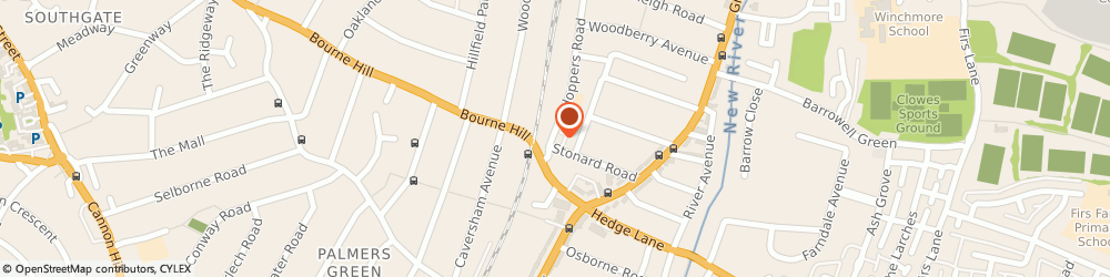 Route/map/directions to Wisegrove Ltd, N21 3LH London, 60 HOPPERS ROAD