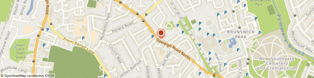 Route/map/directions to Wendys Beauty Studio, N20 0DG London, 255, OAKLEIGH ROAD NORTH