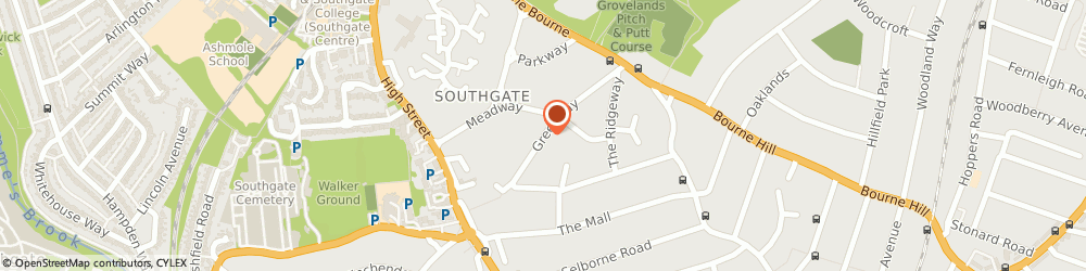 Route/map/directions to Charterhouse Wedding Cars, N14 6NR London, 37 GREENWAY