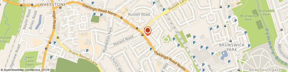 Route/map/directions to Cg Removals, N20 0UA London, 184 Oakleigh Rd N