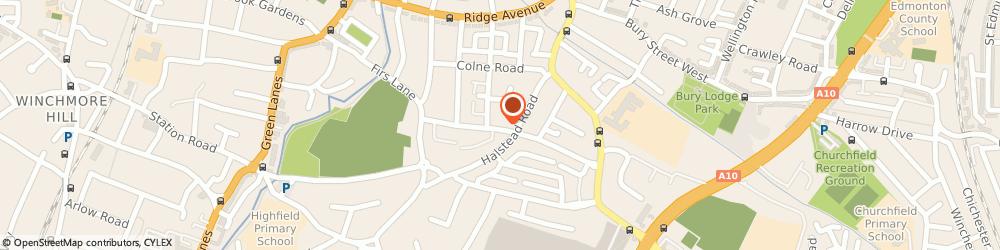 Route/map/directions to Fashion & Corporate Ties, N21 3EJ London, 59 Ridge Road