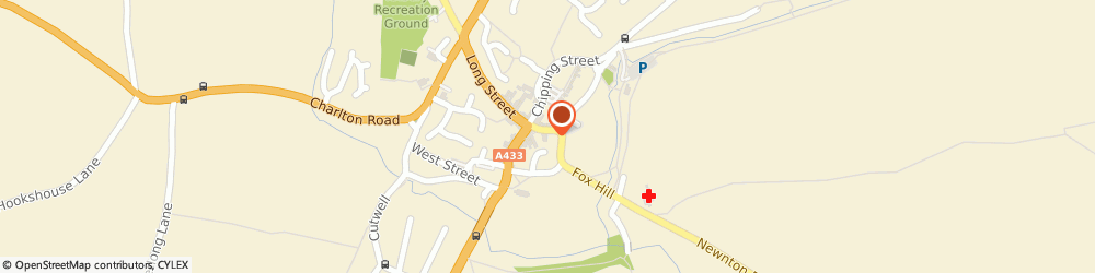 Route/map/directions to The Bengal Lancer, GL8 8DA Tetbury, 11 Market Pl
