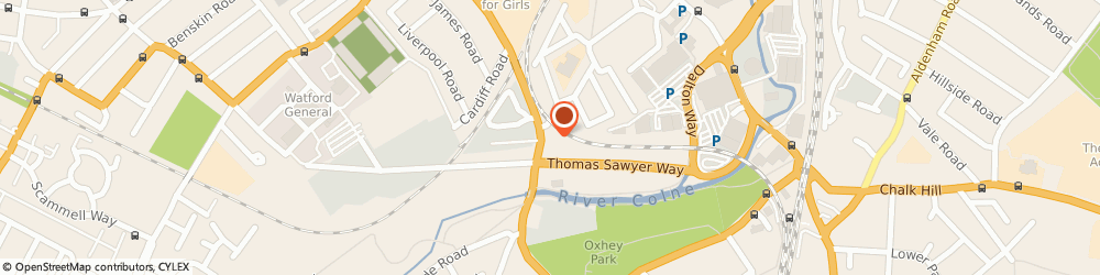 Route/map/directions to BP, WD18 0FS Watford, Wiggenhall Road